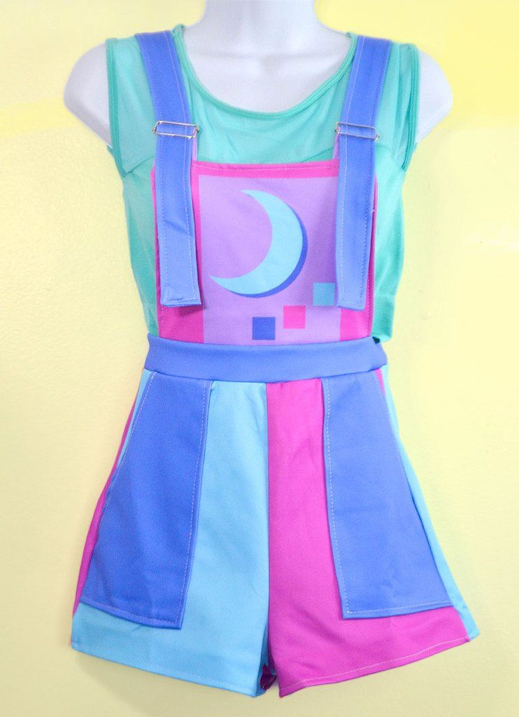087578d38a3 Retro Color Block Overalls - In Control Clothing