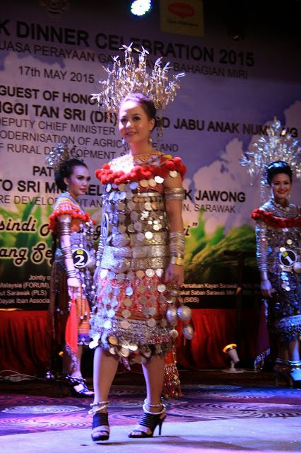 My Life My Journey Miri Divisional Gawai Dayak Celebration 2015 17 05 2015 Meritz Hotel Miri Festival Captain Hat Celebrities Captain Hat