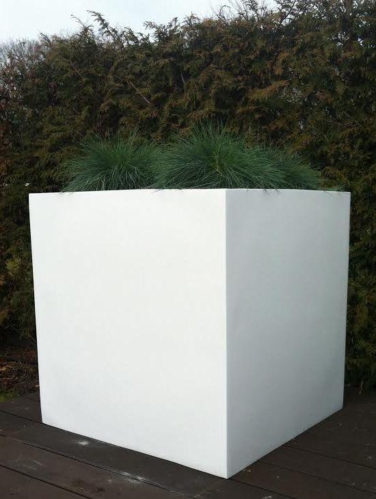 Witte Bloempot Vierkant.Plantenbak El Salvador 80 Cm Hoogglans Wit Vtw In 2019 Bloempotten