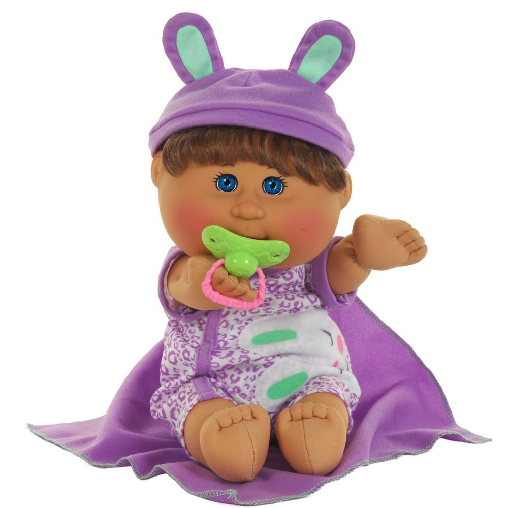 Cabbage Patch Kids Leopard Jumper Naptime Baby Girl Brown Hair Blue Eyes Nib Cabbage Patch Kids Patch Kids Cabbage Patch Babies