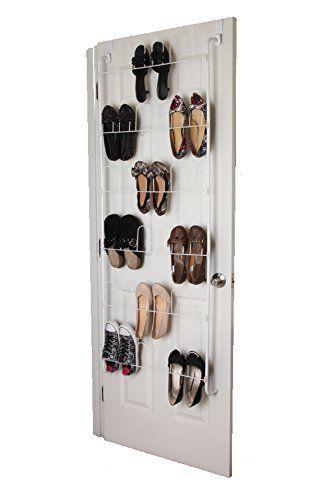 Over The Door Shoe Rack Organizer Holds 18 Pairs Of Shoes   Space Saving  Closet Door