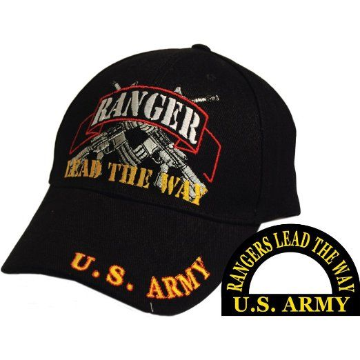 45b41ee1bb0 Army Rangers Lead the Way Direct Embroidered Hat - Black - Veteran Owned  Business
