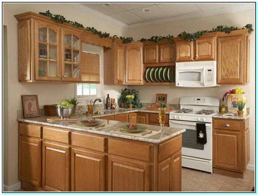 Kitchen Color Schemes With Oak Cabinets Kitchen Remodel Small
