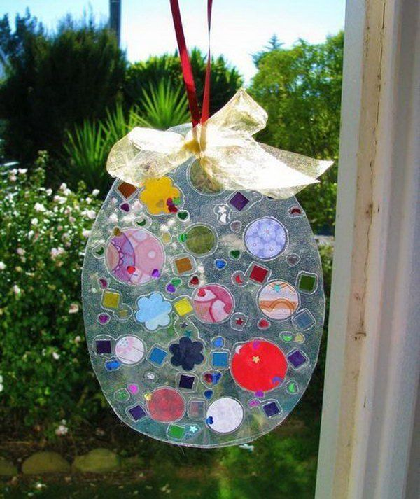 Easter Egg Suncatcher Its An Easy Easter Craft That The Children