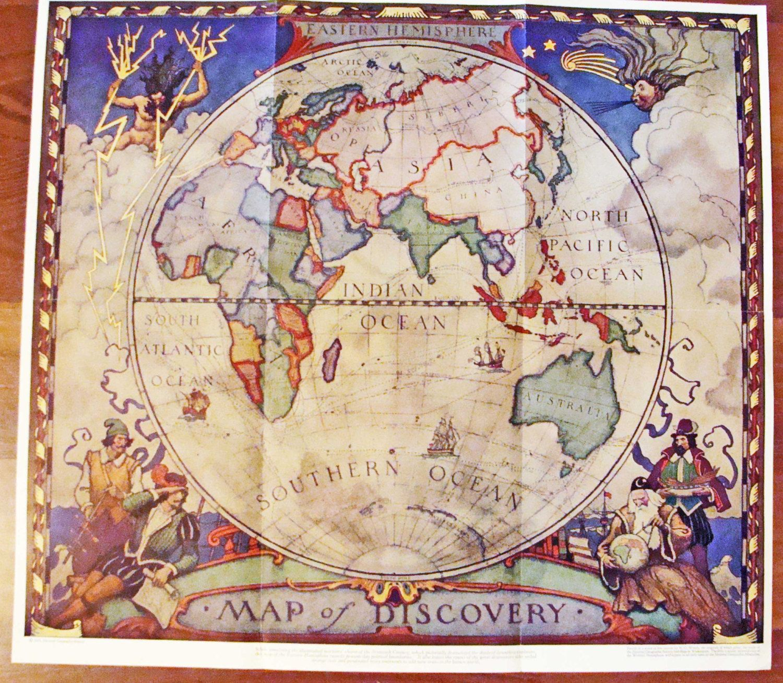 Map u2013 1928 u2013 Map of Discovery