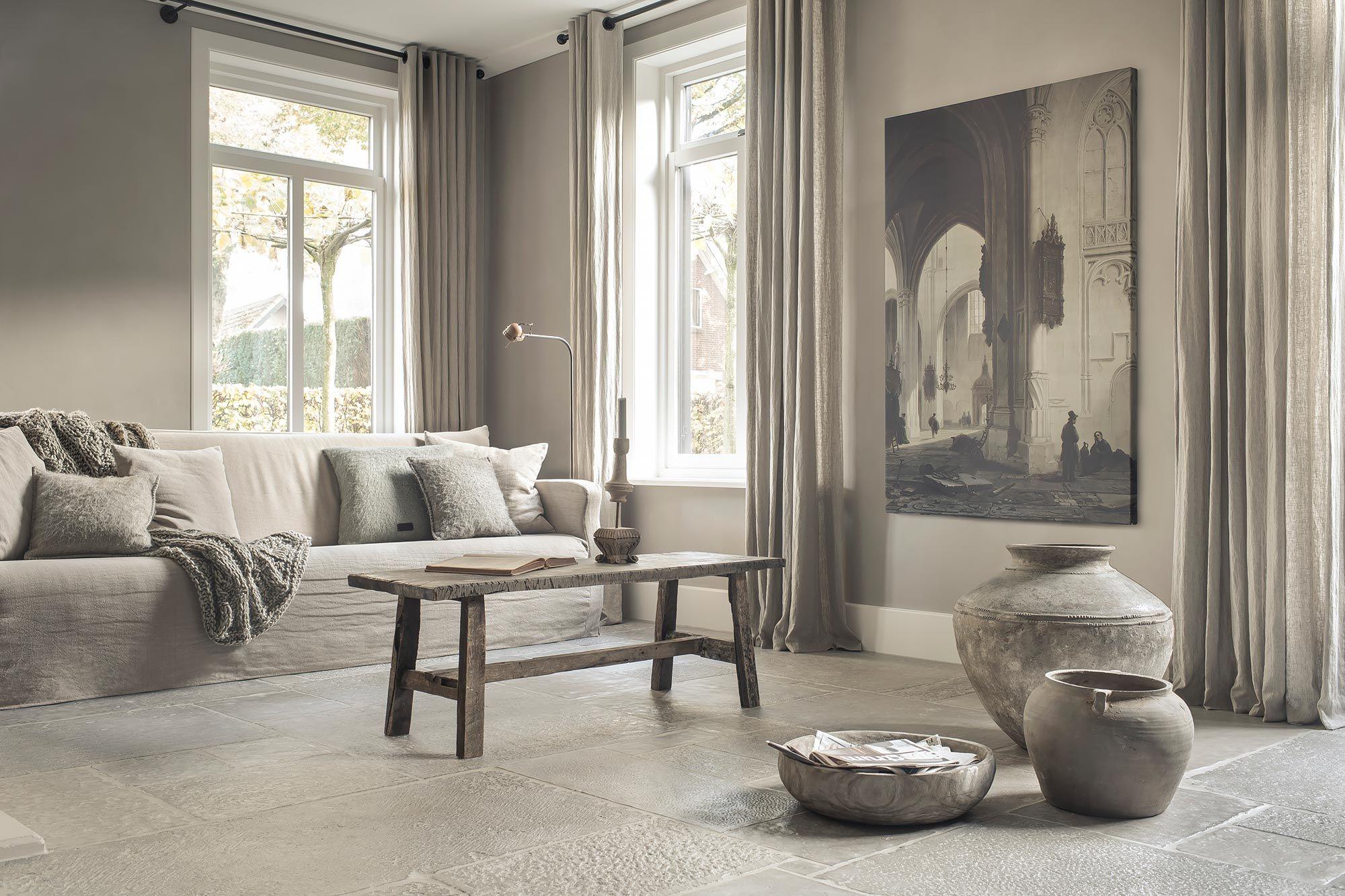Hoffz interieur stenen vloer hollandse meesters pinterest living rooms for Home decoration meester
