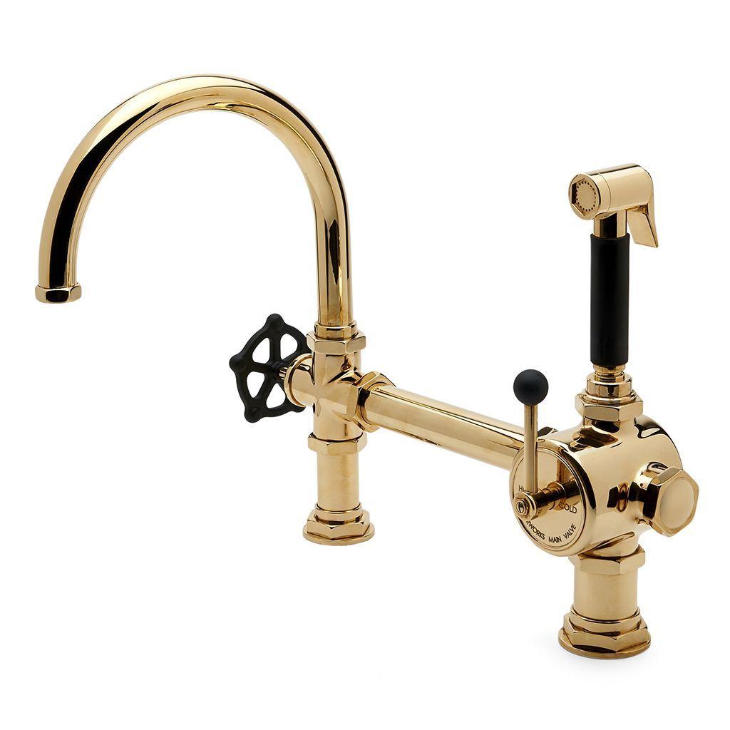 Discover Regulator Gooseneck Single Spout Kitchen Faucet, Matte ...