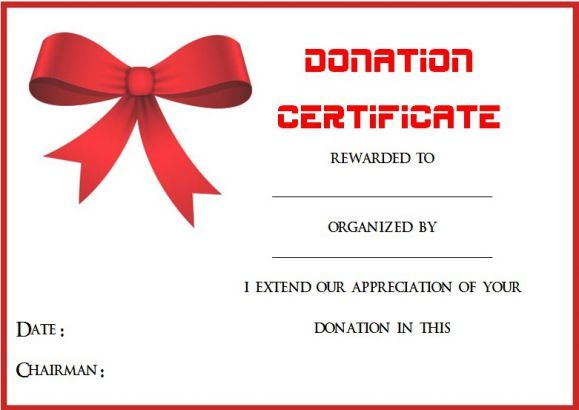 Auction Donation Certificate Template Donation Certificate - Donation gift certificate template