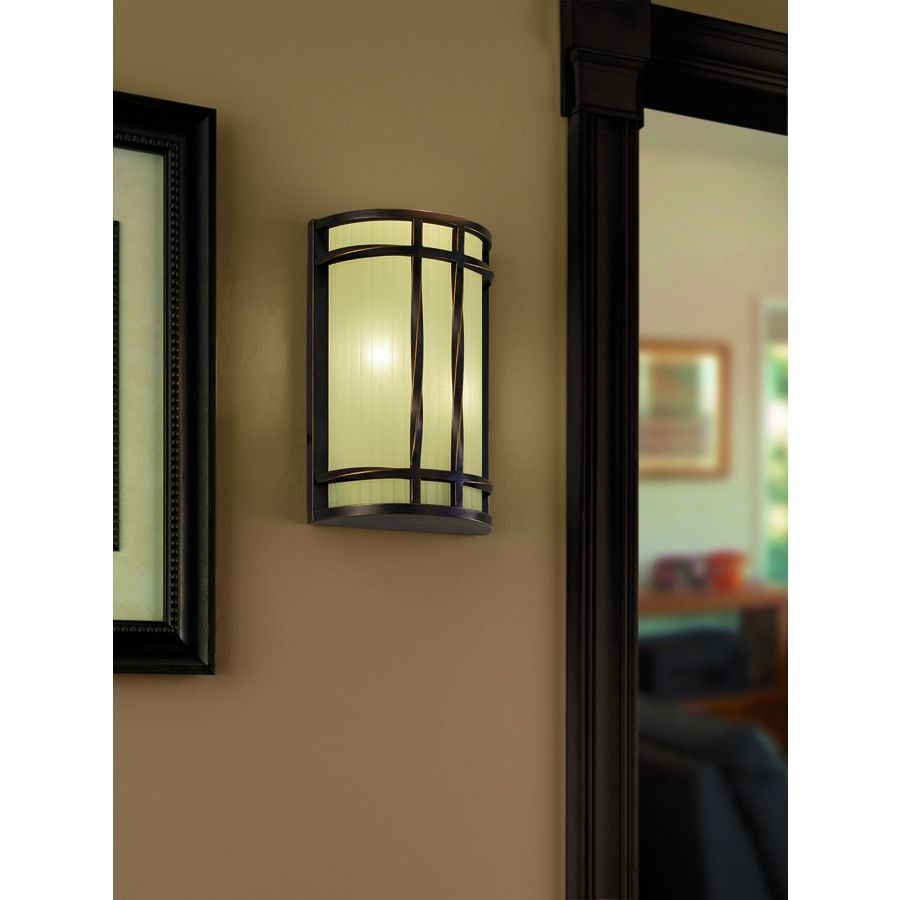 Shop Portfolio 8 In W 2 Light Antique Bronze Pocket Hardwired Wall Sconce At Lowes Com Sconces Wall Sconces Transitional Wall Sconces
