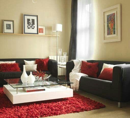 Schwarz Rot Wohnzimmer Zubehör in 2018 Home decor Pinterest - wohnzimmer design schwarz