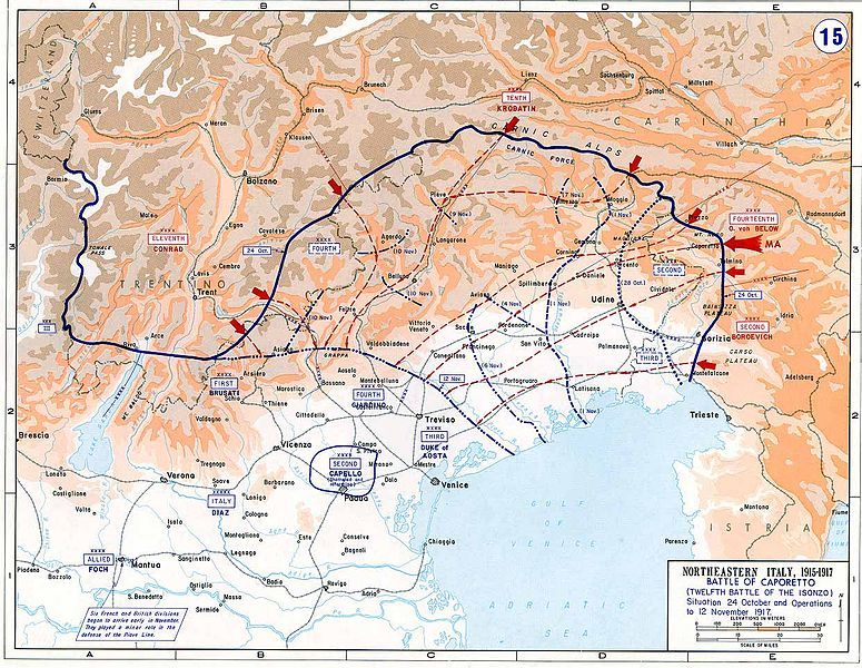 Battle of caporetto wwi italian front pinterest wwi and when italy declared war on austria hungary on 23 may it did so fuelled by optimistic visions of territorial conquest it hoped to seize the largely gumiabroncs Image collections