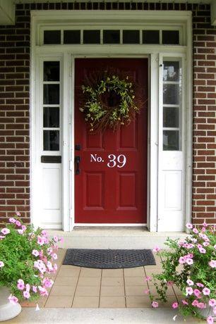 Traditional Front Door With Exterior Stone Floors Pathway Exterior