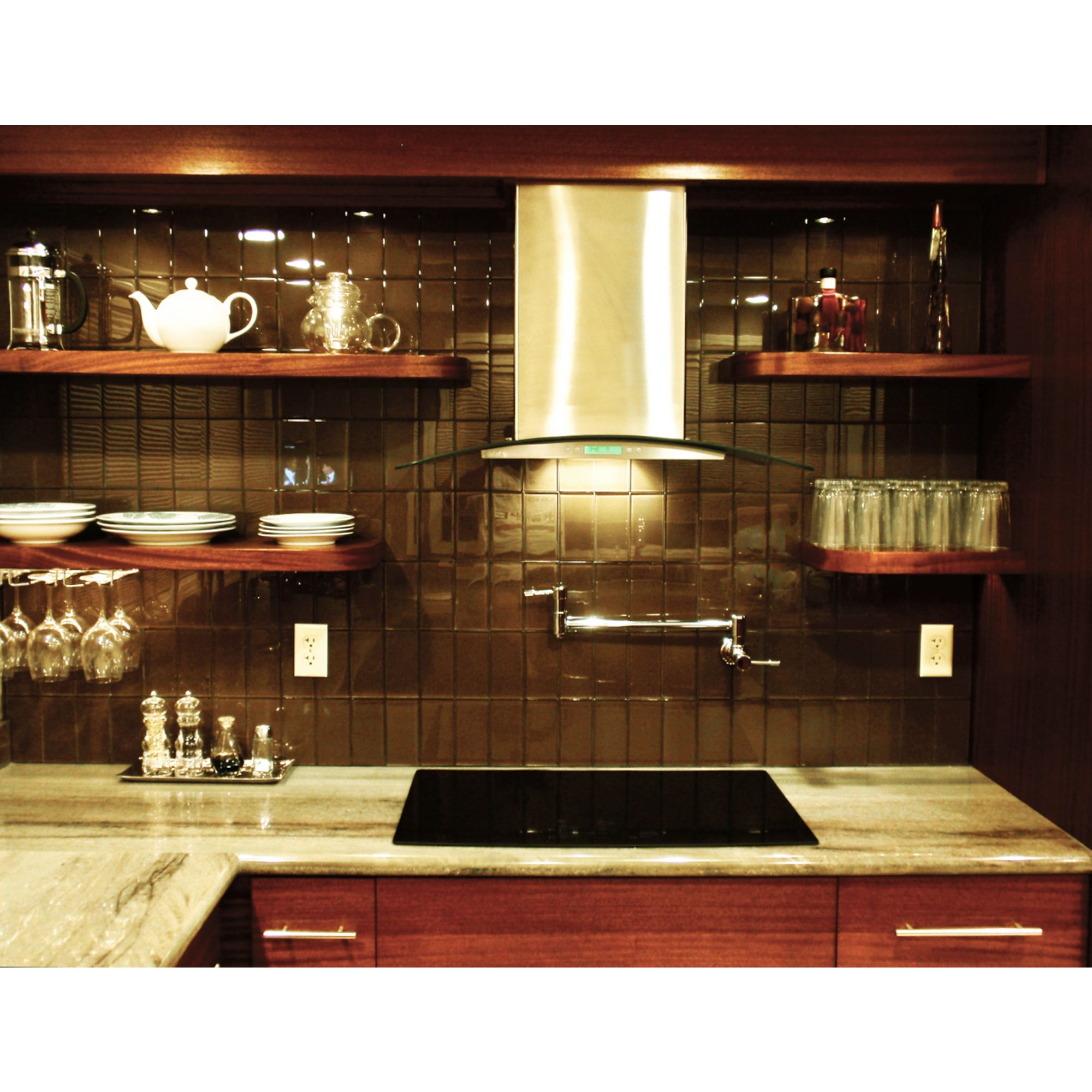 Lush Reef 3x6 Dark Chocolate Brown Glass Subway Tile Is Appropriate