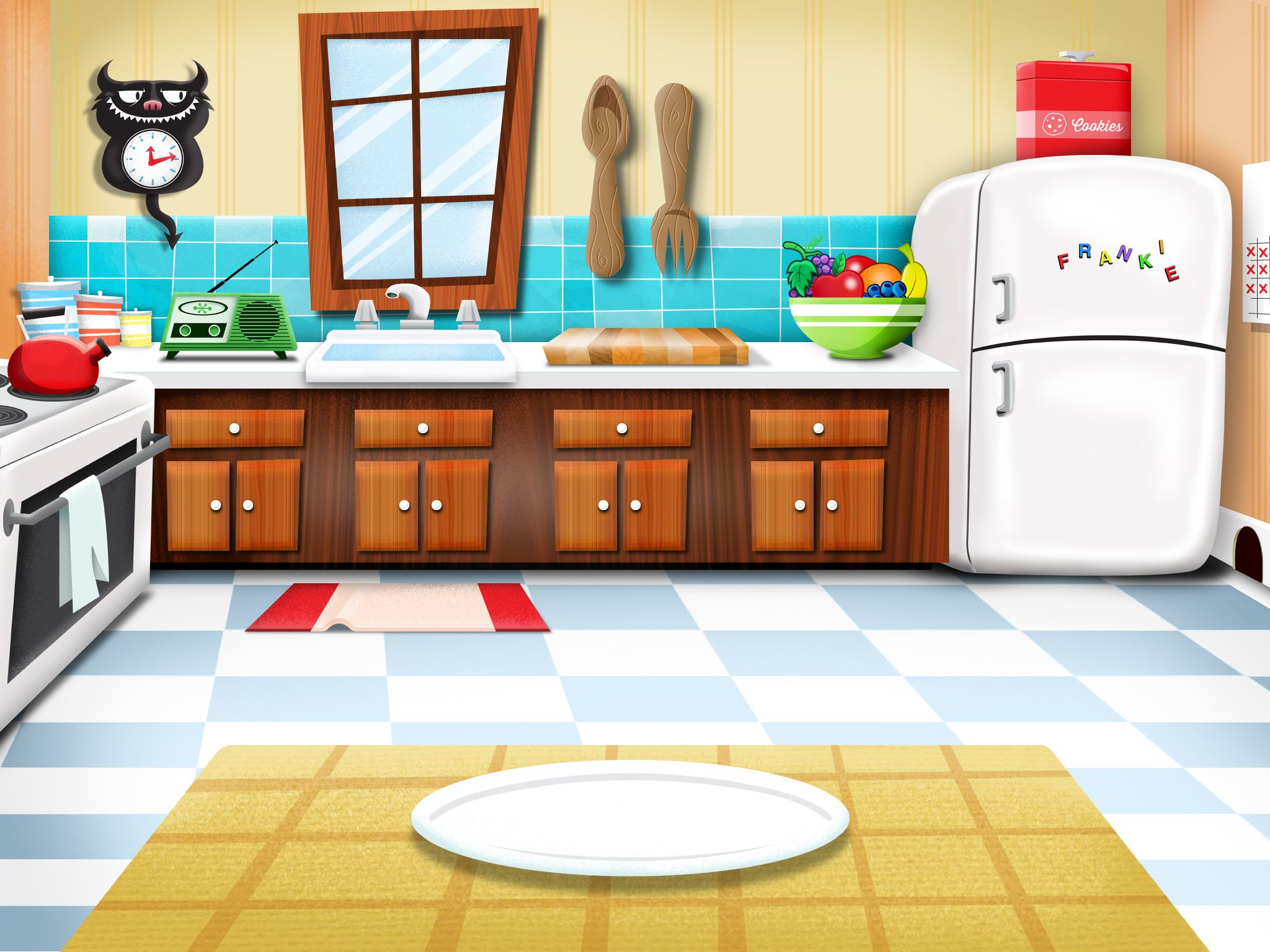 Environment Design Kitchen Scene For Ipad Game Feed Frankie Kitchen Design Kitchen Home Decor