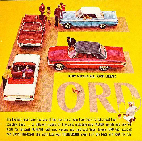 1963 Ford Sales Brochure Catalog Thunderbird Galaxie Fairlane - sales brochure