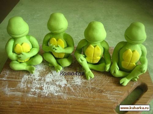 STEP BY STEP NINJA TURTLE porcelana fria polymer clay masa flexible pasta francesa fimo fondant figurine modelado modelling