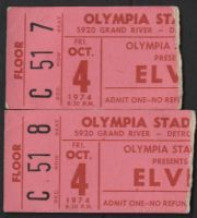 October 4, 1974 Elvis Presley concert at Olympia Stadium in Detroit, Michigan