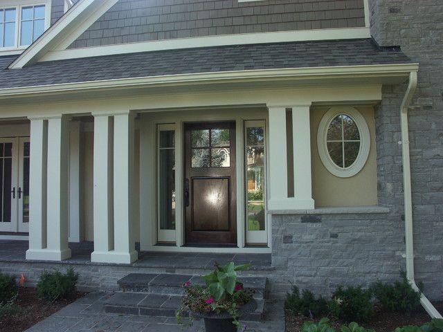 Front Porch Pillar Ideas Home Exterior Makeover Front Porch Pillars House Exterior