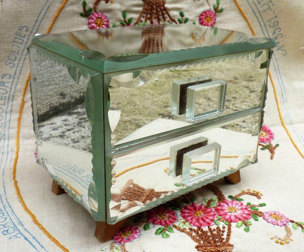 boite a bijoux miroir ancienne