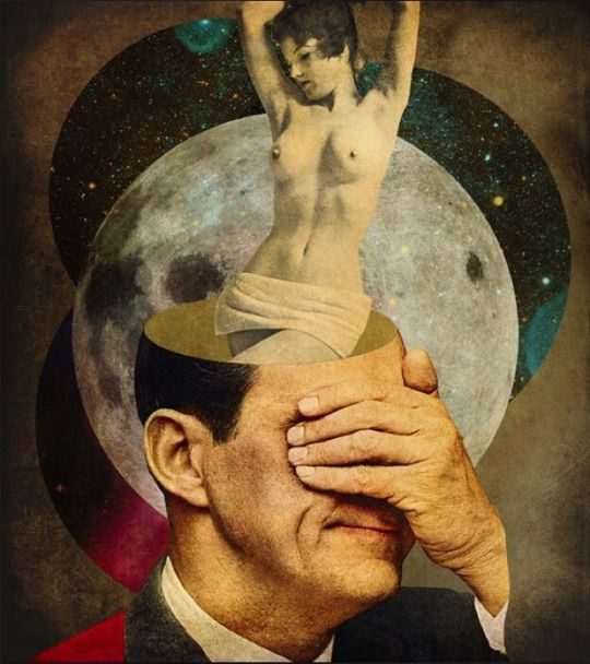 HORVATH Peter - A Clouded Mind - collage numérique 2015