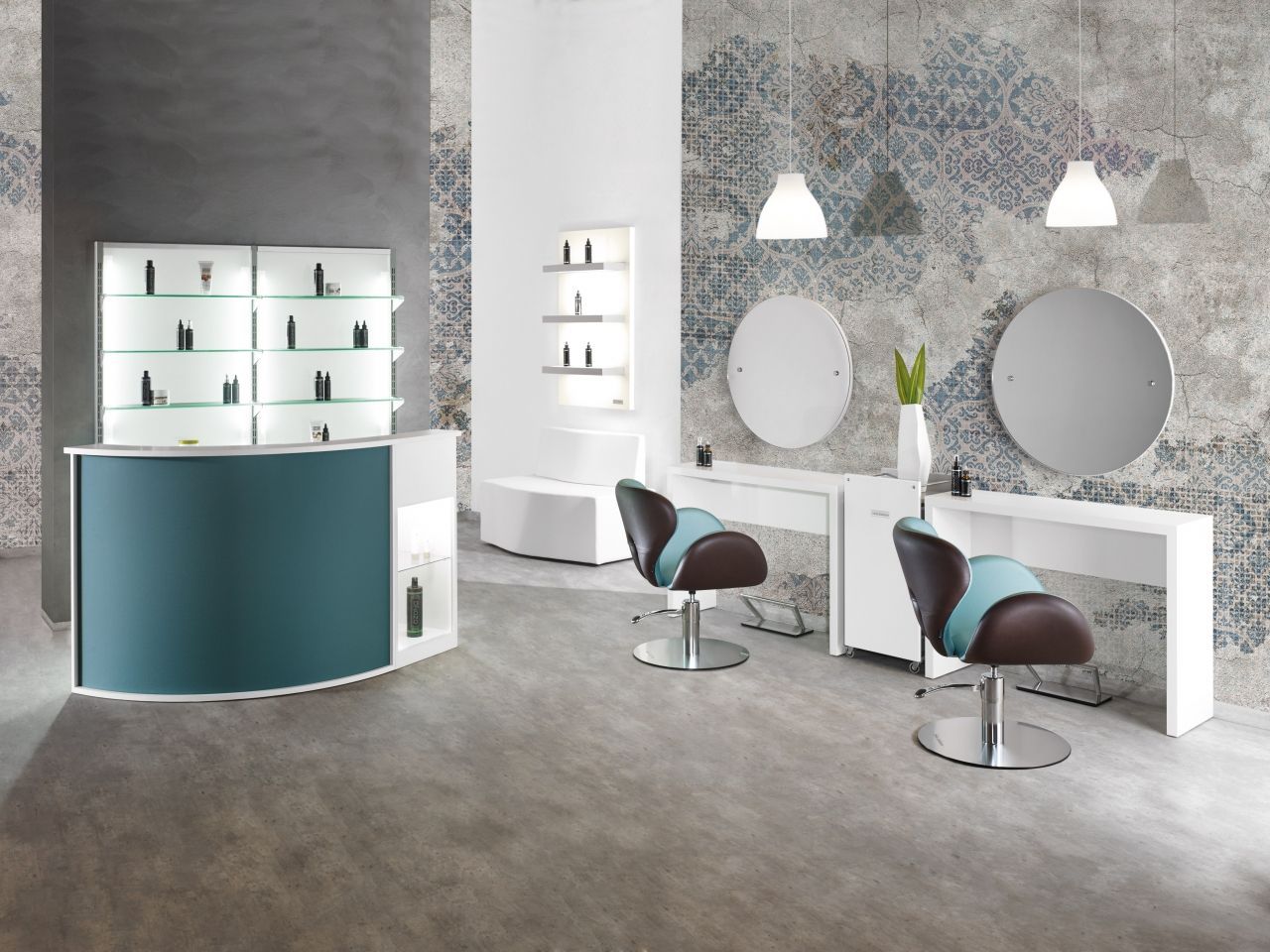 Round Line - Salon Ambience - Hairdressing Furniture - Made In Italy ...