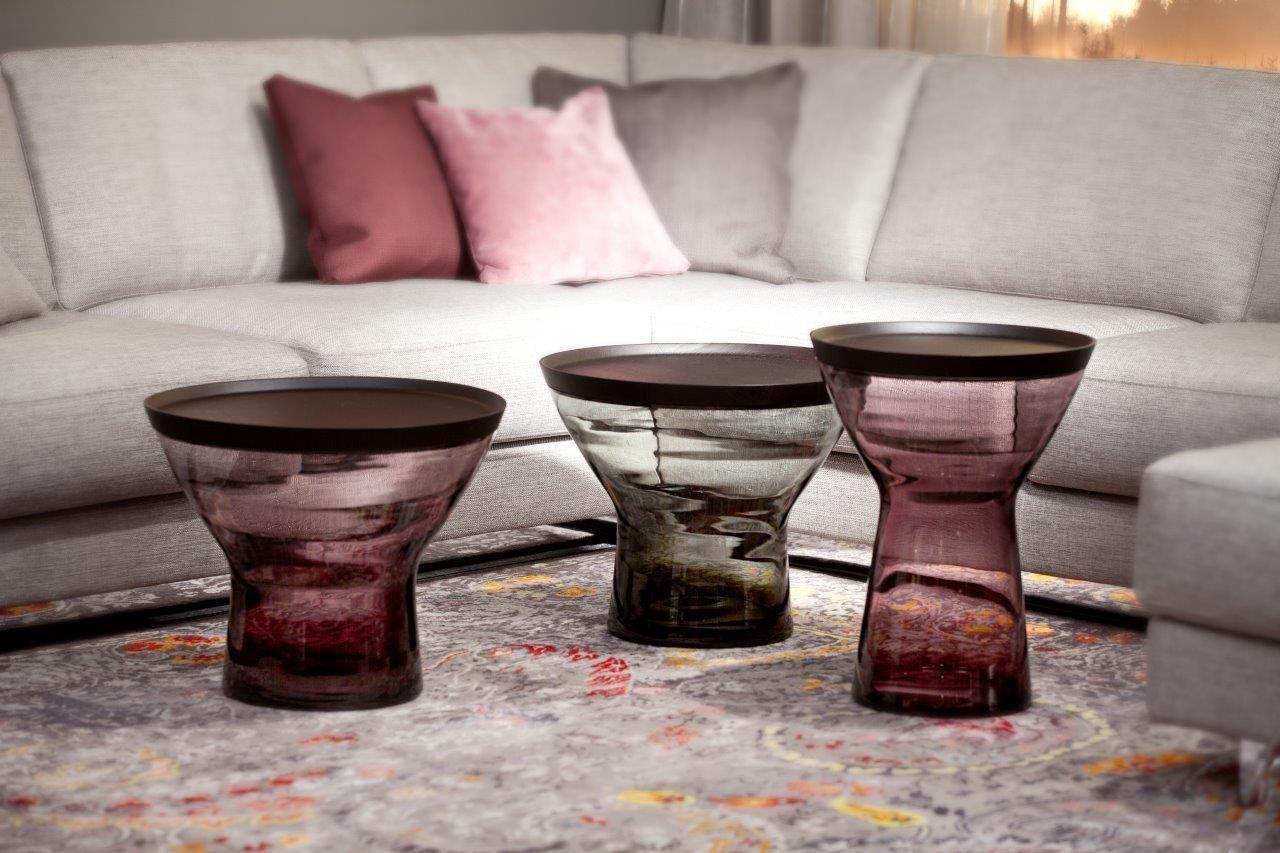 Beistelltische Aus Glas noxx beistelltische aus glas by christine kroencke interior design
