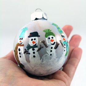 "Craft-e-Corner Blog * Celebrate Your Creativity: Simple & Fun Family ""Hand""made Ornaments"
