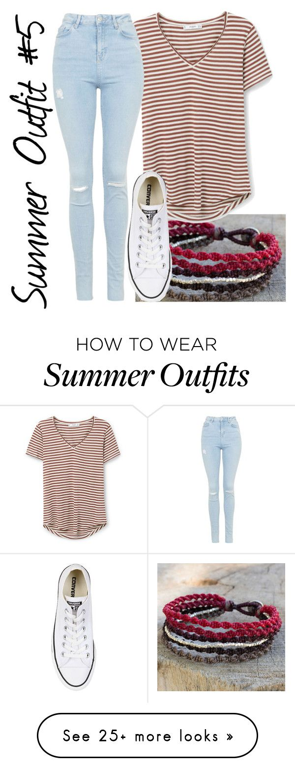 """""""Summer Outfit #5"""" by zalanea05coles on Polyvore featuring NOVICA, MANGO, Topshop and Converse"""