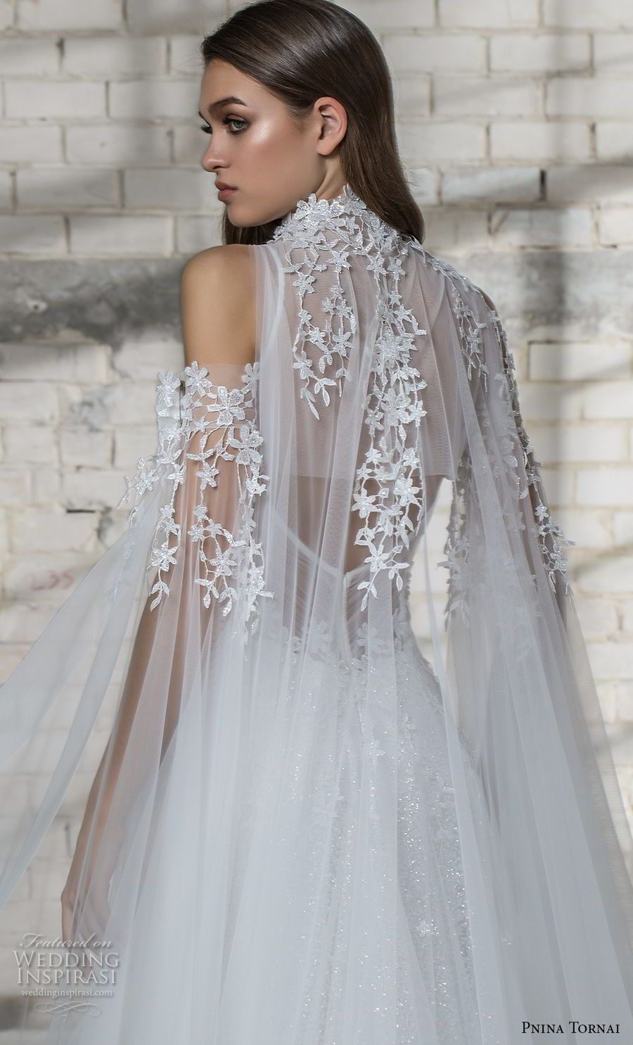 pnina tornai 2019 love bridal cold shoulder illusion high neck deep  sweetheart neckline heavily embellished bodice 5e148d6861c5
