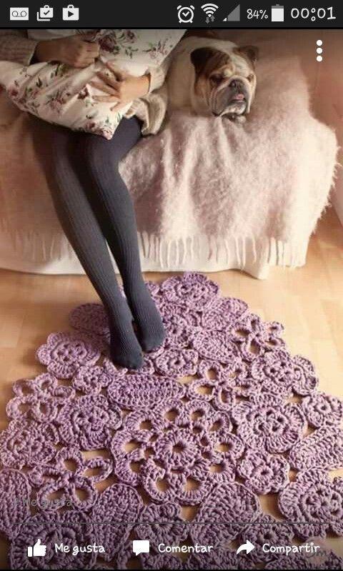 Pin von Annemie Nel auf crochet carpets | Pinterest