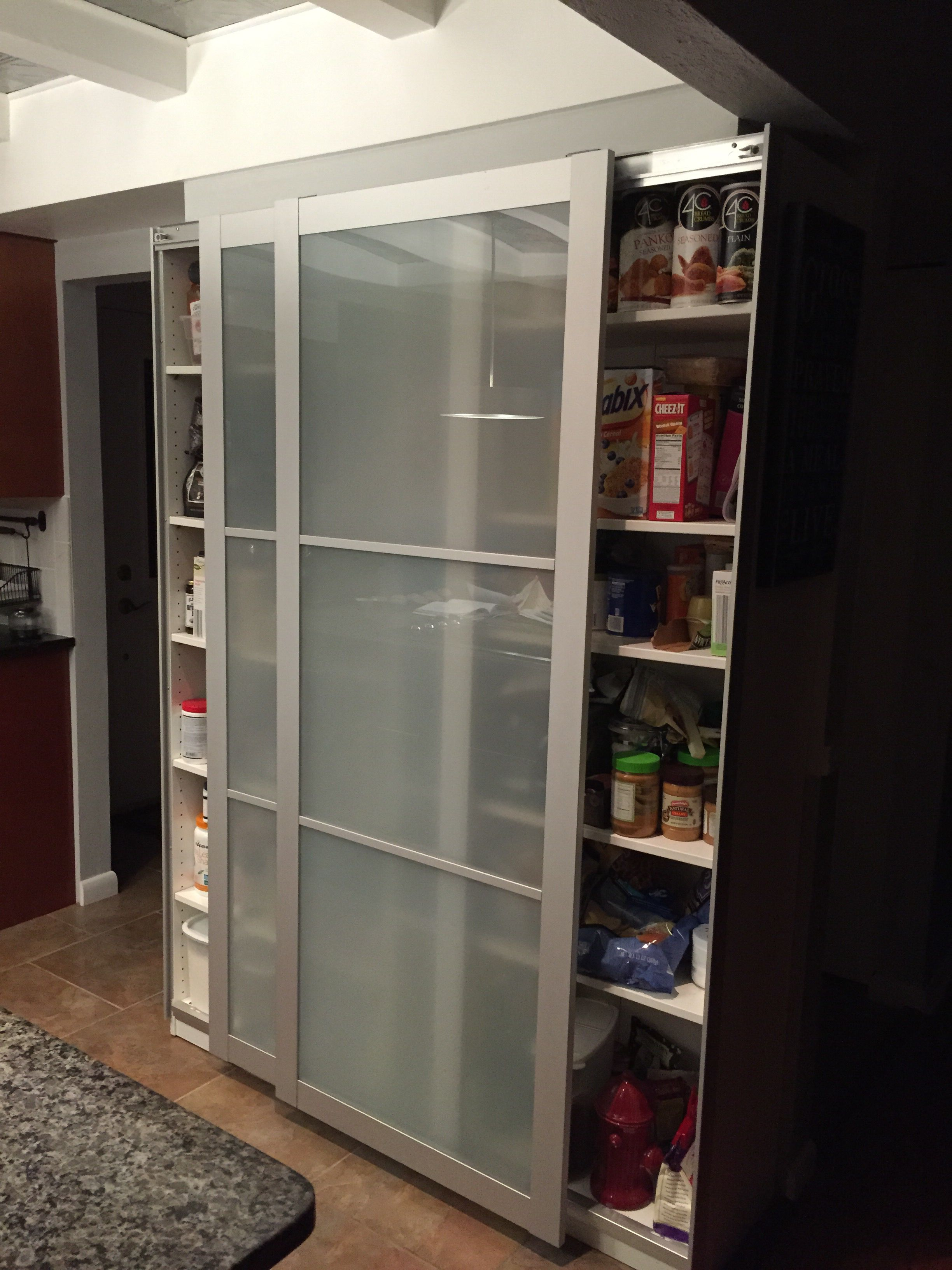 Kitchen Bookcase Ikea Bookcase Hack With Pax Doors New Kitchen Pantry Decor