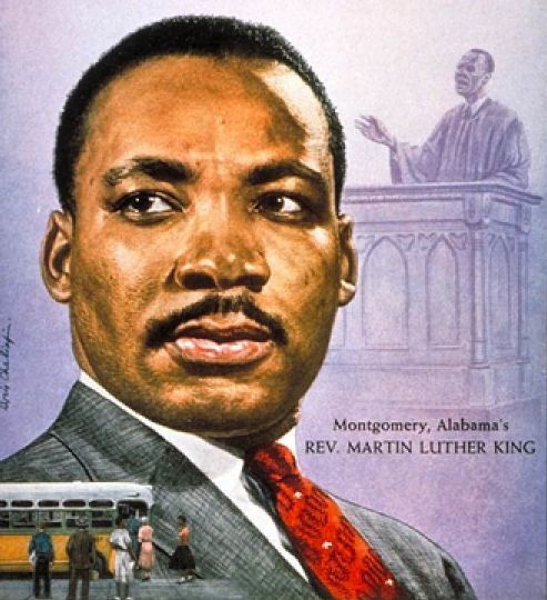 Martin Luther King by Boris Chaliapin. © Image is copyright of its respective owner, assignees or others.