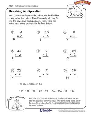 Multiplication Worksheets For Rd Grade  Unlocking Multiplication
