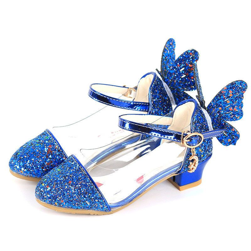 Girl Flats Macy Kid Flower Girl Pageant Dress Shoes White Gold Blue Frozen