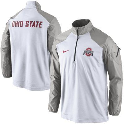 Ohio State Buckeyes Nike Coaches Sideline Half Zip Performance Jacket –  White 60fe57068