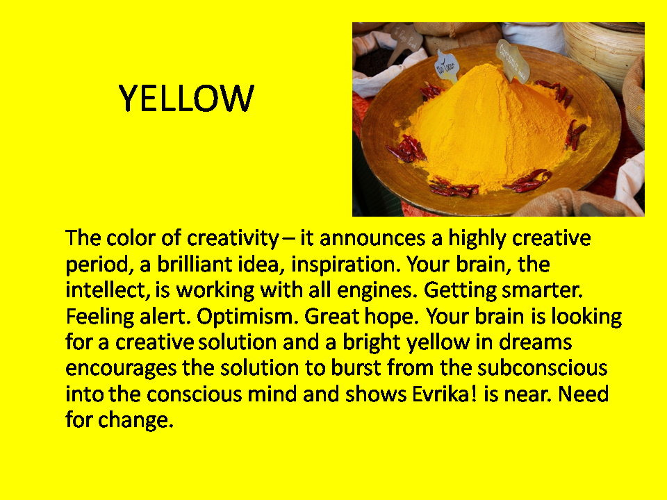 Dreaming In Colors Symbolism Yellow Dreams And Dream
