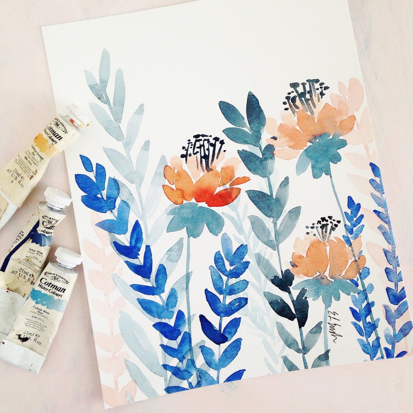 A Creative Blog Featuring Diy Art Projects, Watercolor Paintings, Crafts,