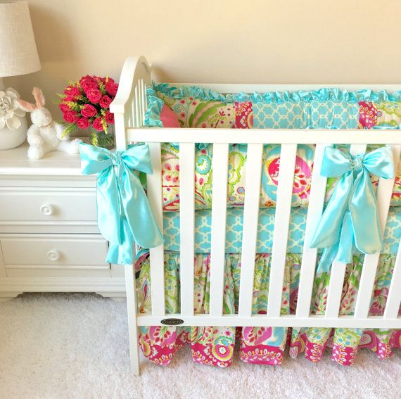 Baby Bedding Sets for Girls, Mint Baby Bedding, Custom ...