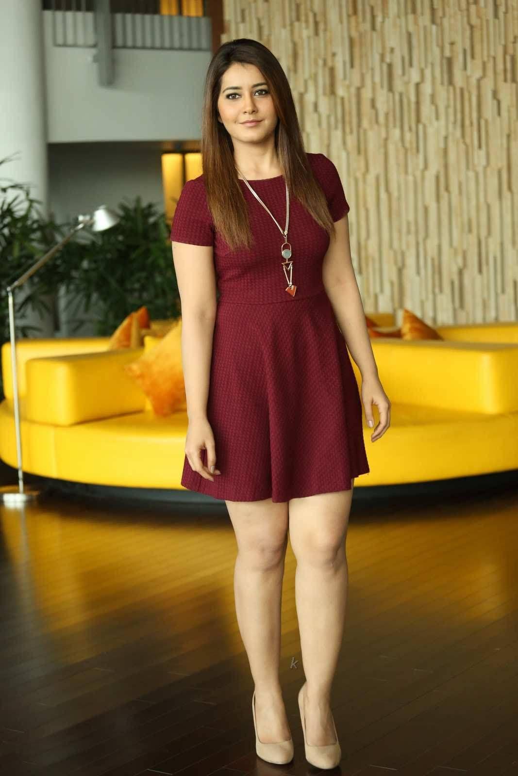 Rashi Khannna Latest Photos in Maroon Dress Rashi Khanna