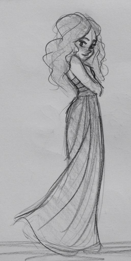 Girl sketch. By Yenthe Joline.