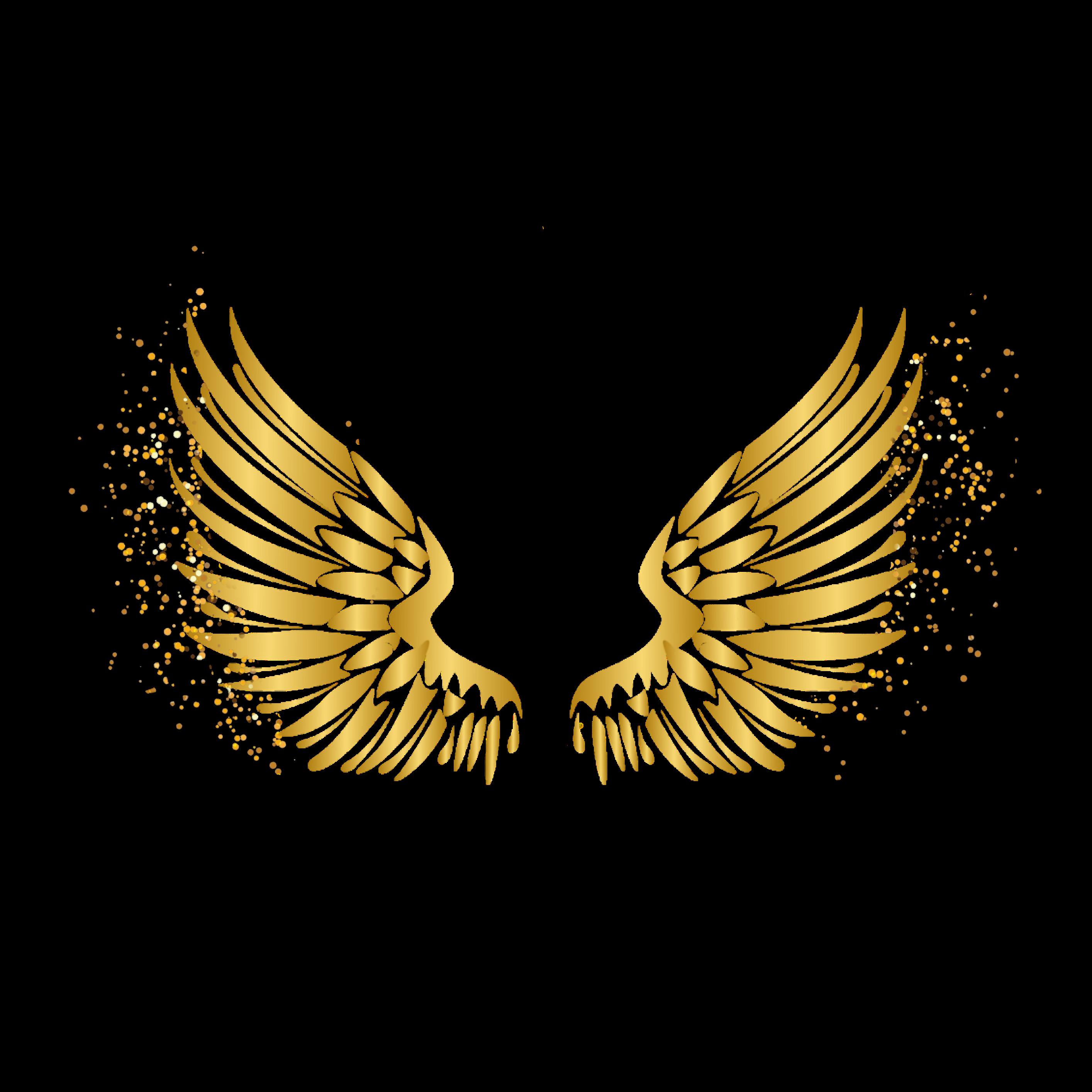 Freetoedit Wings Angel Gold Glitter Remixed From Arianasmoonlxght Azhaaralzadjalia Angel Wings Background Angel Wings Png Wings Wallpaper