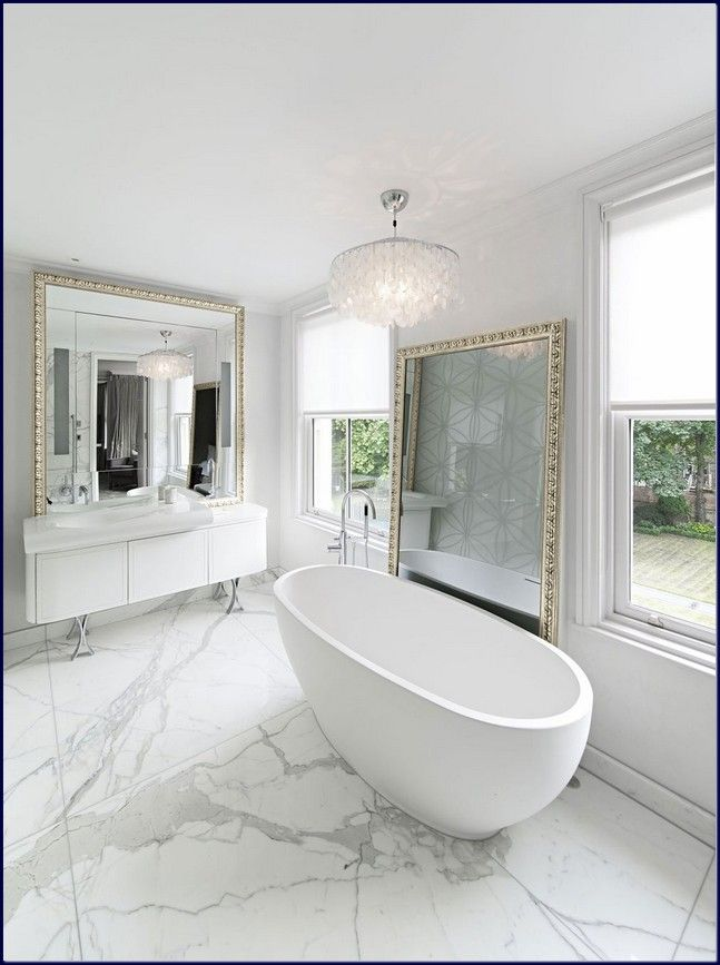 Glam Bath Modern White Bathroom Modern Bathroom Design White