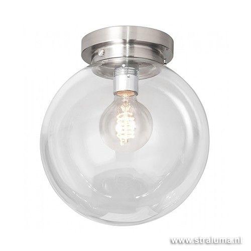 Moderne glazen plafonniere bol hal-wc - www.straluma.nl ...