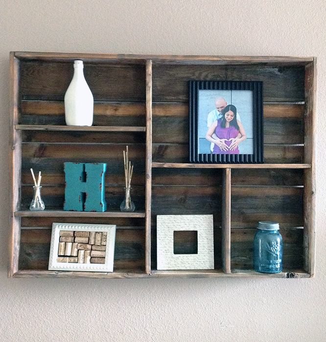 reclaimed wood wall shelf Wood shelves, Reclaimed wood