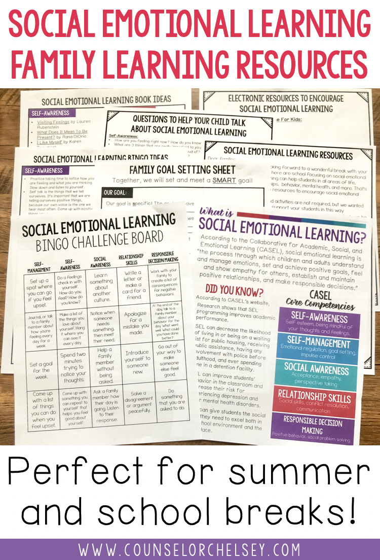 Social Emotional Learning Family Materials Counselor Chelsey Simple School Counseling Ideas Social Emotional Learning Social Emotional Learning Activities Social Emotional