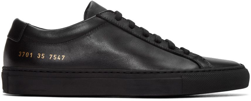 COMMON PROJECTS BLACK ORIGINAL ACHILLES SNEAKERS.  commonprojects  shoes   sneakers c174c810e