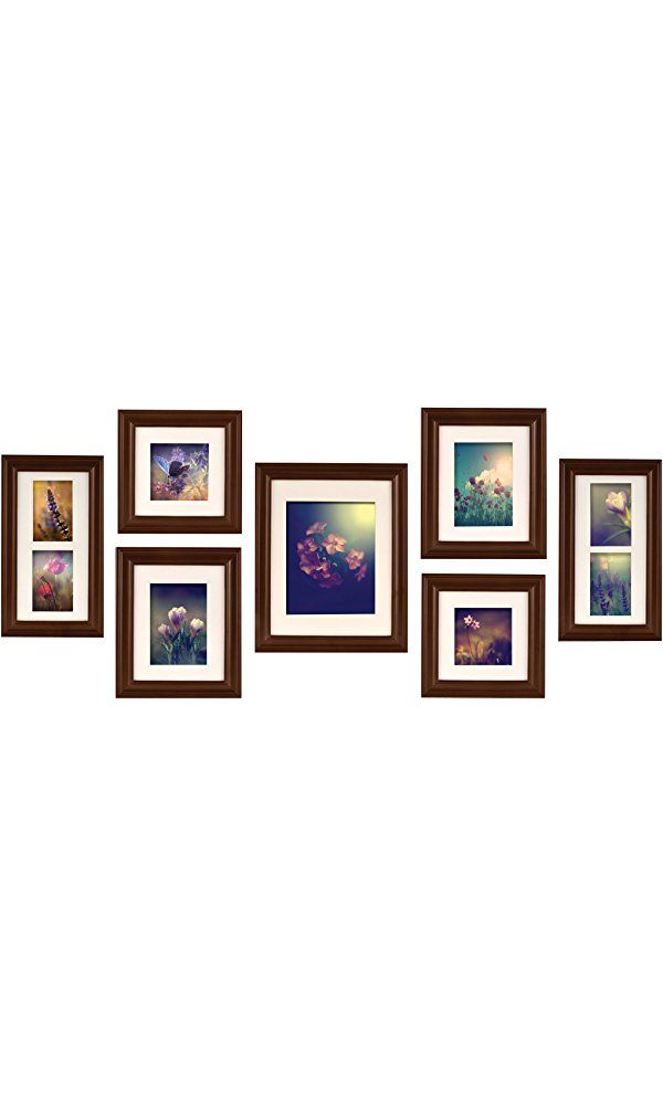 Pinnacle Frames and Accents 7-Piece Photo Frame Set, Walnut Best ...