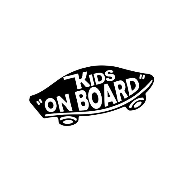 Stickers Picture More Detailed Picture About Internal Kids On Board Baby On Board Vans Off The Wall Baby Skateboa Car Stickers Funny Car Stickers Car Humor