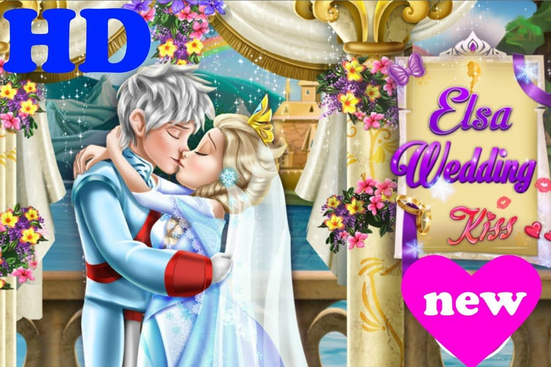 Disney Frozen Games Elsa And Jack Wedding Kissing Frozen 2