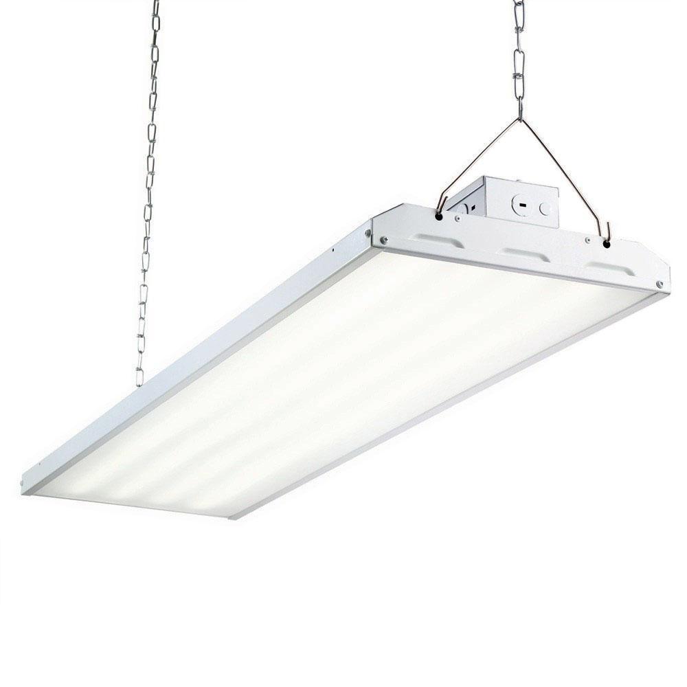 Envirolite 216 Watt 4 Ft White Integrated Led Backlit High Bay Hanging Light With 26000 Lumen 5000k Hb4b26dmd50 The Home Depot Hanging Lights Commercial Lighting Fixtures Lamp